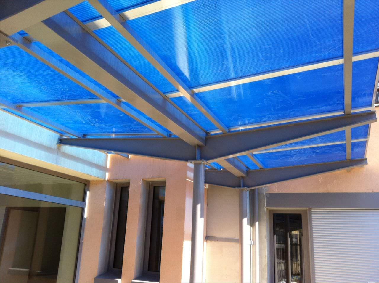 Ladrillos norte instal un techo de policarbonato en - Como instalar un techo de policarbonato ...